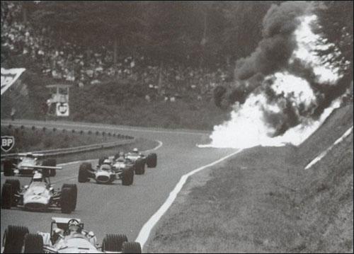 Авария Жо Шлессера на Гран При Франции 1968 года